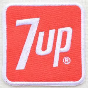 ワッペン 7up セブンアップ(ロゴ/レッド/スクエア) HCH-002C|wappenstore