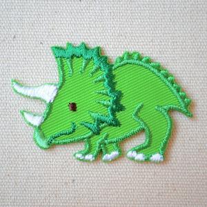 ワッペン へなちょこZOO(恐竜/トリケラトプス) 名前 作り方 HE321-HE21|wappenstore