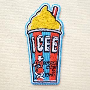 ロゴワッペン ICEE カップ(イエロー) 名前 作り方 ICEEW-001