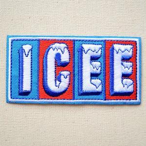 ロゴワッペン ICEE アイシー 名前 作り方 ICEEW-005|wappenstore