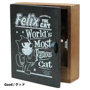木製壁掛けキーボックス ウッデンキーボックス フィリックスザキャット(全3種) *メール便不可|wappenstore