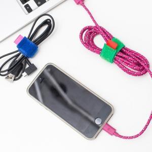 ケーブルホルダー ケーブルタイ [KIKKERLAND] Color Cable Ties set of 8 / [キッカーランド] カラーケーブルタイ wappenstore
