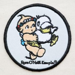 ワッペン キューピー(ダックラウンド) あひる ローズオニール 動物 アニマル 円形|wappenstore