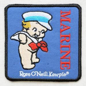 ワッペン キューピー(マリンスクエア) 水兵 ローズオニール marine 四角形|wappenstore