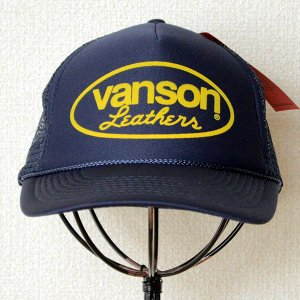帽子/メッシュキャップ バンソンレザー(オーバルロゴ/ネイビー) LB-12-793 *メール便不可 wappenstore