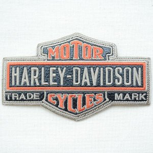 レザーロゴワッペン Harley-Davidson ハーレーダビッドソン(バー&シールド/ダイカット) wappenstore