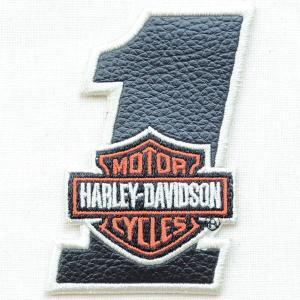 レザーロゴワッペン Harley-Davidson ハーレーダビッドソン(バー&シールド/1) wappenstore