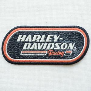 レザーロゴワッペン Harley-Davidson ハーレーダビッドソン(レーシング) wappenstore