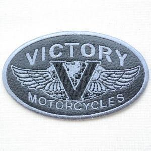 レザーロゴワッペン Harley-Davidson ハーレーダビッドソン(ヴィクトリー) wappenstore
