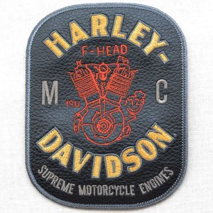 レザーロゴワッペン Harley-Davidson ハーレーダビッドソン(F-Head) wappenstore