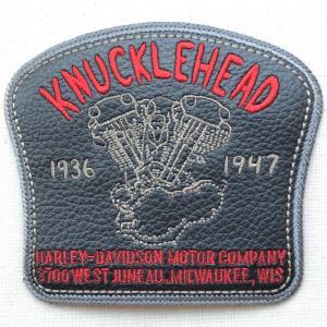 レザーロゴワッペン Harley-Davidson ハーレーダビッドソン(ナックルヘッド) wappenstore