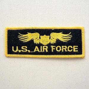 ミリタリーワッペン U.S.Air Force エアフォース (イエロー/ブラック) 名前 作り方 LFW-006|wappenstore