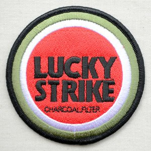 ロゴワッペン ラッキーストライク Lucky Strike たばこ|wappenstore