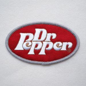 ロゴワッペン Dr Pepper ドクターペッパー(レッド/オーバル)|wappenstore