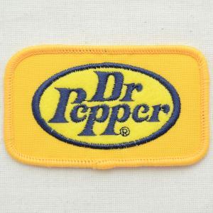 ロゴワッペン Dr Pepper ドクターペッパー(イエロー/レクタングル)|wappenstore