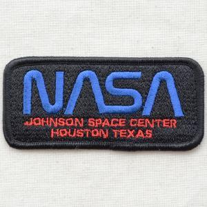ロゴワッペン NASA ナサ(ブラック&ブルー/レクタングル)|wappenstore