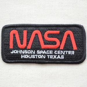 ロゴワッペン NASA ナサ(ブラック&レッド/レクタングル)|wappenstore