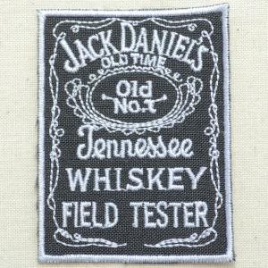 ロゴワッペン ジャックダニエル Jack Daniel's(レクタングル)|wappenstore