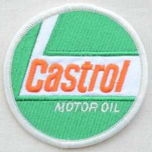 ロゴワッペン Castrol カストロール モーターオイル(ラウンド) wappenstore