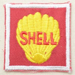 ロゴワッペン Shell シェル オイル(スクエア)|wappenstore
