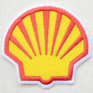 ロゴワッペン Shell シェル オイル(ダイカット) wappenstore