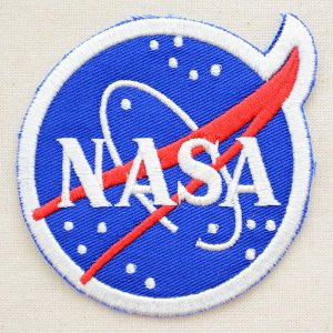 ロゴワッペン NASA ナサ(ブルー/ラウンド)|wappenstore