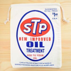 アメリカンロゴ巾着袋(L) STP Oil オイル LJK-L002 wappenstore