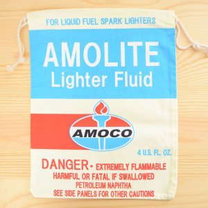アメリカンロゴ巾着袋(L) アモコオイル Amoco LJK-L003 wappenstore