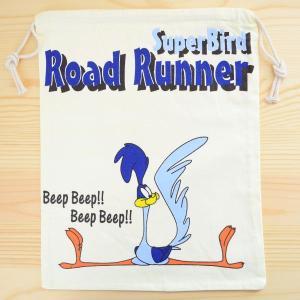 アメリカンキャラ巾着袋(L) ロードランナー Road Runner LJK-L009|wappenstore