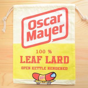 アメリカンロゴ巾着袋(L) オスカーメイヤー Oscar Mayer LJK-L014 wappenstore