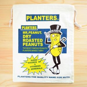 アメリカンロゴ巾着袋(L) ミスターピーナッツ Mr.Peanut LJK-L015 wappenstore