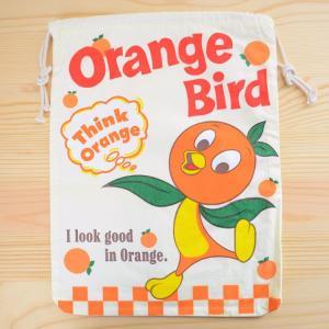 アメリカンロゴ巾着袋(L) オレンジバード Orange Bird LJK-L018 wappenstore