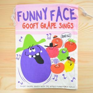 アメリカンロゴ巾着袋(L) ファニーフェイス Funny Face LJK-L020 wappenstore