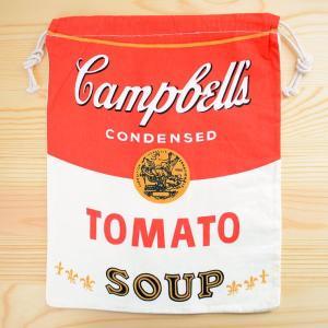アメリカンロゴ巾着袋(L) キャンベルトマトスープ Campbell's LJK-L021|wappenstore