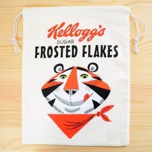 アメリカンロゴ巾着袋(L) ケロッグ Kellogg's(トニーザタイガー) LJK-L022|wappenstore