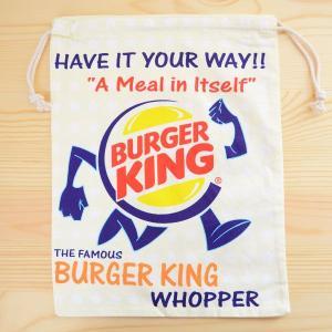 アメリカンロゴ巾着袋(L) バーガーキング Burger King LJK-L023|wappenstore