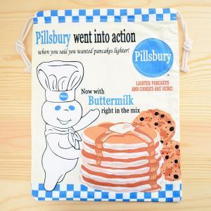 アメリカンキャラ巾着袋(L) ドゥボーイ Doughboy LJK-L027 wappenstore