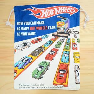 アメリカンロゴ巾着袋(L) ホットウィール Hot Wheels LJK-L029 wappenstore