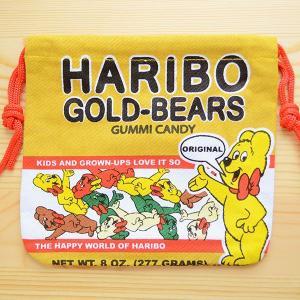 アメリカンキャラ巾着袋(S) ハリボーグミ Haribo LJK-S008|wappenstore
