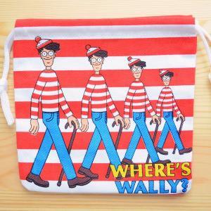 アメリカンキャラ巾着袋(S) ウォーリーをさがせ Wally LJK-S026|wappenstore