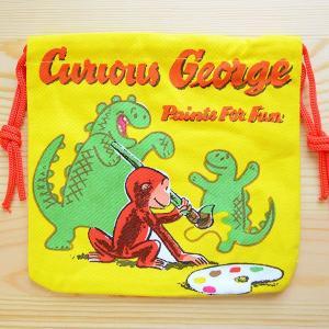 アメリカンキャラ巾着袋(S) おさるのジョージ Curious George LJK-S030|wappenstore