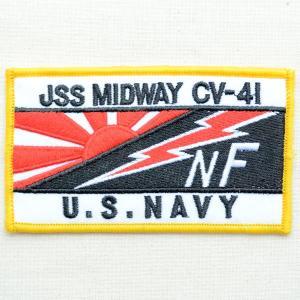 ミリタリーワッペン USS Midway CV-41 アメリカ海軍(レクタングル)|wappenstore
