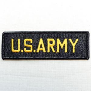 ミリタリーワッペン U.S.Army Tab アーミー アメリカ陸軍(ブラック)|wappenstore