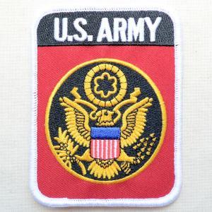 ミリタリーワッペン U.S.Army アーミー アメリカ陸軍(レッド/レクタングル)|wappenstore