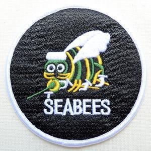 ミリタリーワッペン Seabees シービー アメリカ海軍(蜂/ラウンド)|wappenstore
