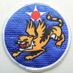 ミリタリーワッペン Flying Tiger タイガー アメリカ空軍(虎/ラウンド)|wappenstore