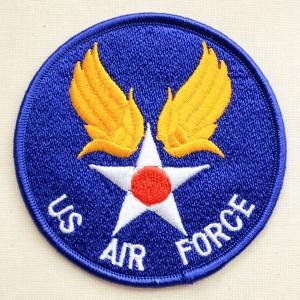ミリタリーワッペン US Air Force エアフォース(ブルー/ラウンド)|wappenstore
