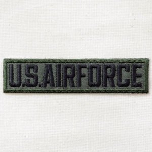 ミリタリーワッペン U.S.Air Force エアフォース Tab(カーキ&ブラック)|wappenstore