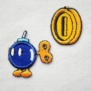 ワッペン スーパーマリオ コイン/ボムへい(2枚組) 名前 作り方 MRS010|wappenstore