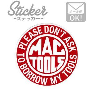 ステッカー/シール MACTOOLS Round ms060 マックツール ステッカー シール カスタマイズ オリジナル バイク 車 ガソリン アメリカン|wappenstore